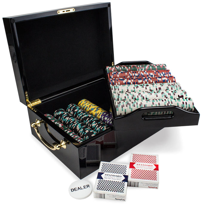 Showdown - 500 Piece Set (Mahogany Case) - Gutshot Poker Supply