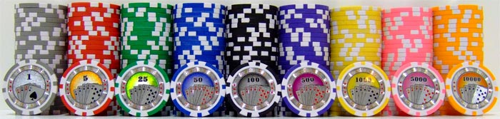 Casino Royale Poker Chips - 25 Pieces - Gutshot Poker Supply