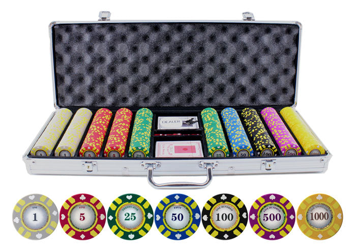 Stripe Suited V2 - 500 Piece Set - Gutshot Poker Supply