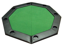 "Load image into Gallery viewer, 48"" Octagonal Folding Table Top w/ Padded Rail (Green) - Gutshot Poker Supply"