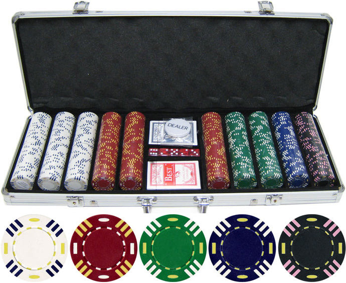 Triple Striped - 500 Piece Set - Gutshot Poker Supply