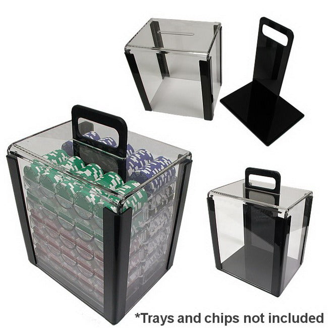 1000 Piece Acrylic Chip Carrier - Gutshot Poker Supply