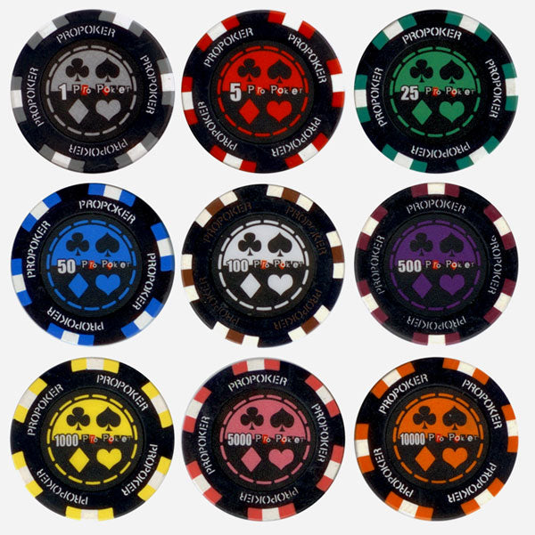 Pro Poker Chips - 25 Pieces - Gutshot Poker Supply