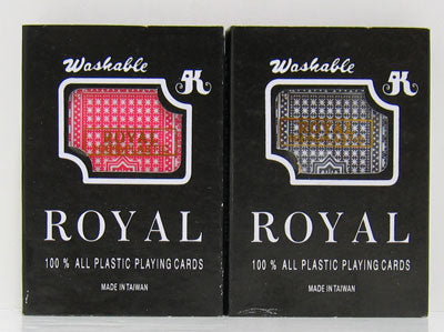 Royal Plastic Playing Cards - 2 Deck Set - Gutshot Poker Supply