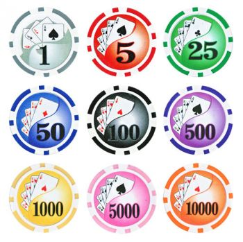 Yin Yang Poker Chips - 25 Pieces - Gutshot Poker Supply