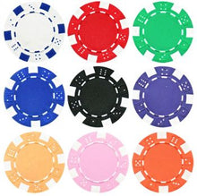 Load image into Gallery viewer, Striped Dice Poker Chips - 25 Pieces - Gutshot Poker Supply