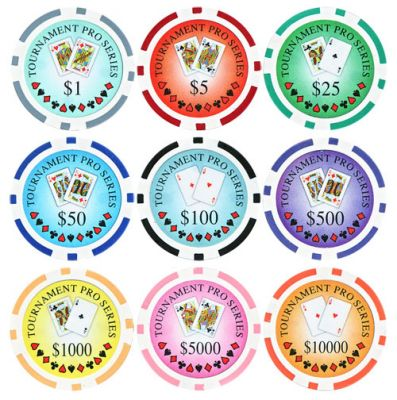 Tournament Series Poker Chips - 25 Pieces - Gutshot Poker Supply