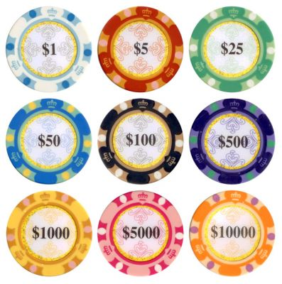 Monte Carlo Poker Chips - 25 Pieces - Gutshot Poker Supply