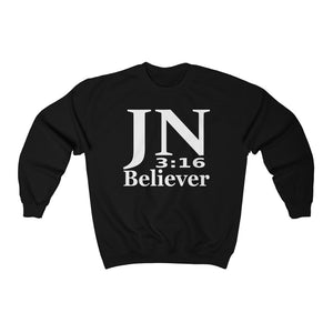 John 3:16 Believer Sweatshirt - Display My Faith