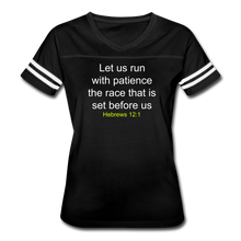 Load image into Gallery viewer, Women's Sport Tee - Hebrews 12:1   KJV - Display My Faith