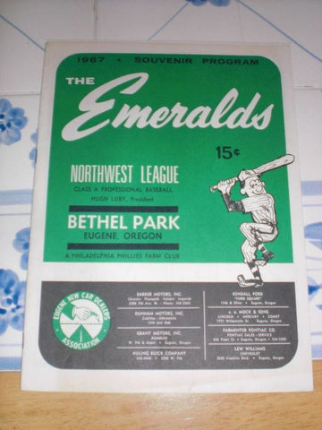 A vintage bill for the Emeralds at Bethel Park