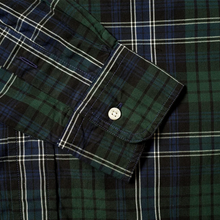 Load image into Gallery viewer, Navy Beefy Poplin Check