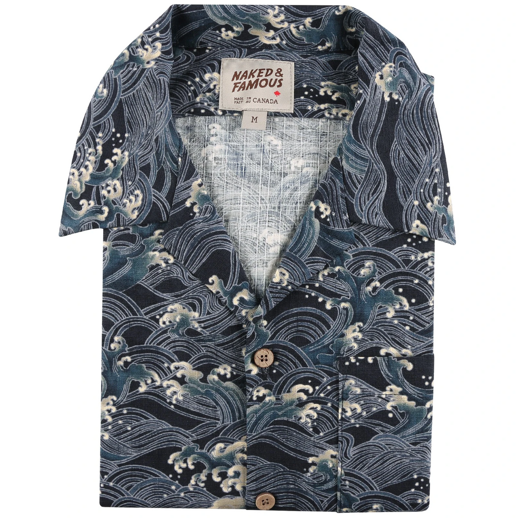 Aloha Shirt - Japanese Waves