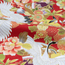 Load image into Gallery viewer, Aloha Shirt in Red Japan Cranes