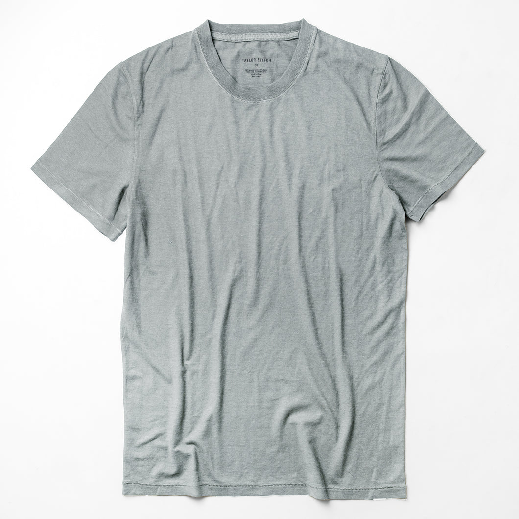 Cotton Hemp Tee in Bay Mist