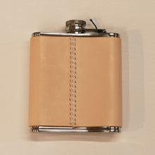 Load image into Gallery viewer, Leather-Wrapped Flask
