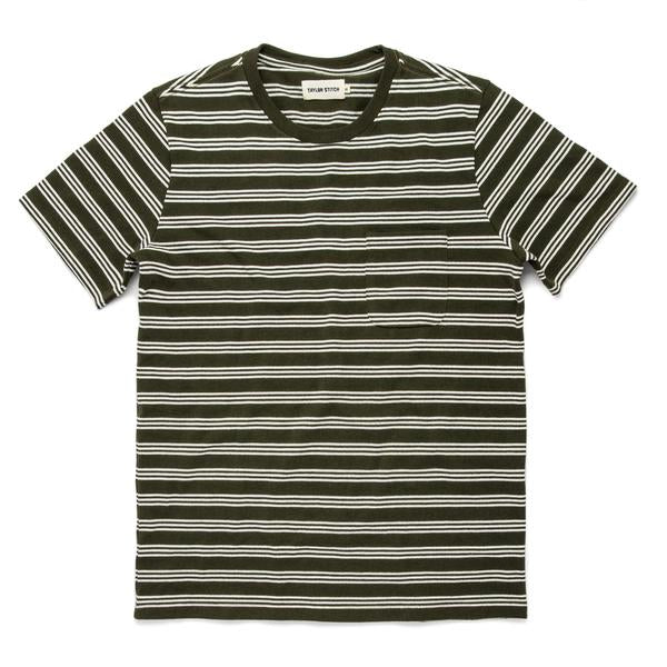 Heavy Bag Tee in Cypress Stripe