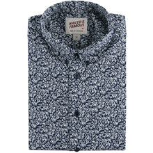 Load image into Gallery viewer, Indigo Floral Short Sleeve Easy Shirt