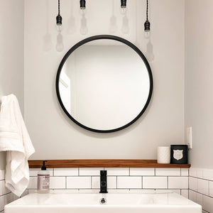 mirror and sink in guest bath