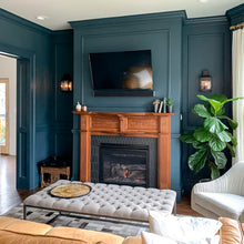 Load image into Gallery viewer, benjamin moore narragansett green on living room walls
