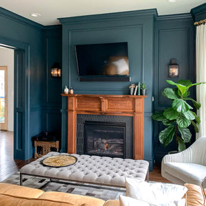 benjamin moore narragansett green on living room walls
