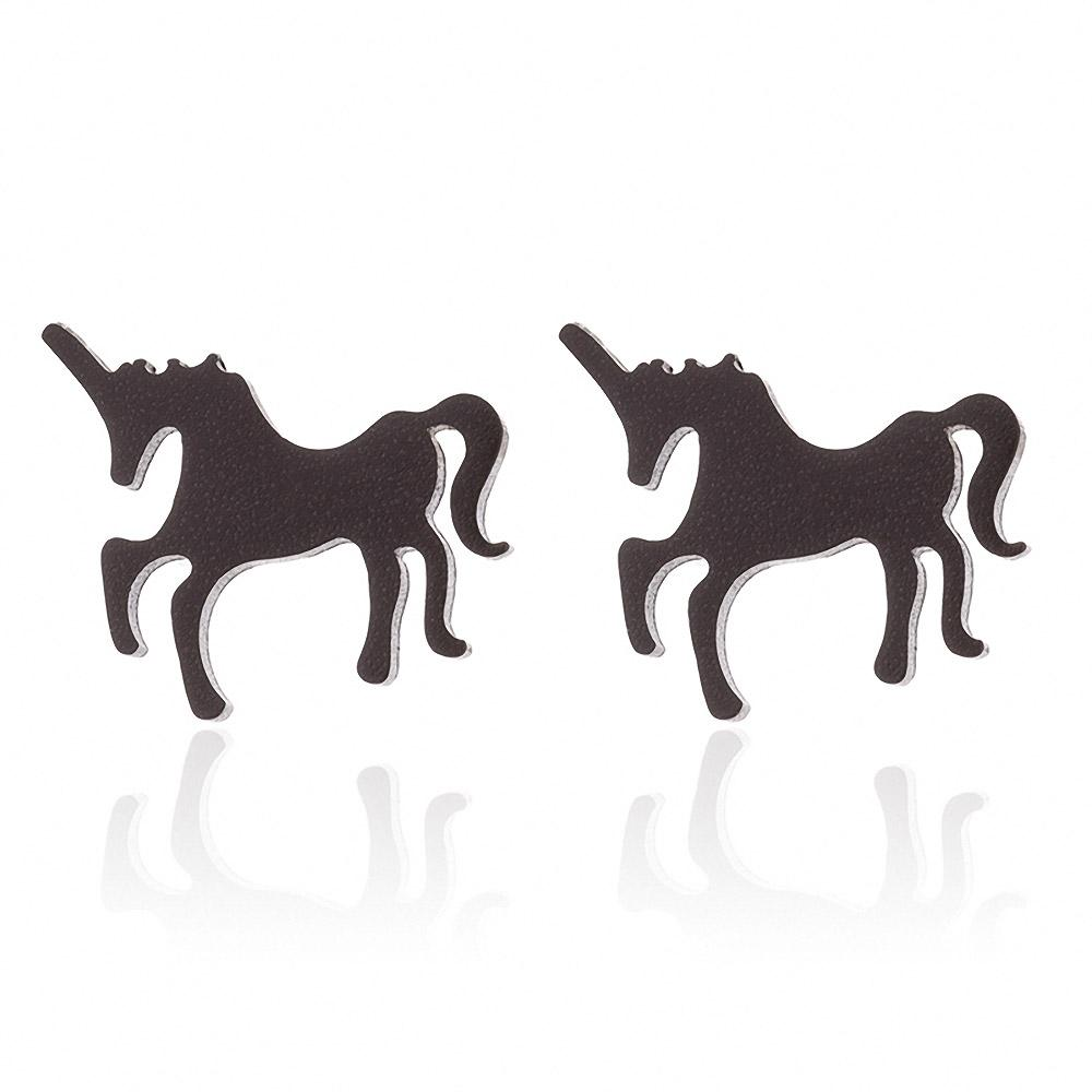 Black Unicorn Earrings