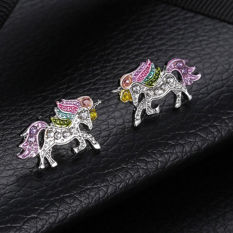 Diamond Unicorn Earrings