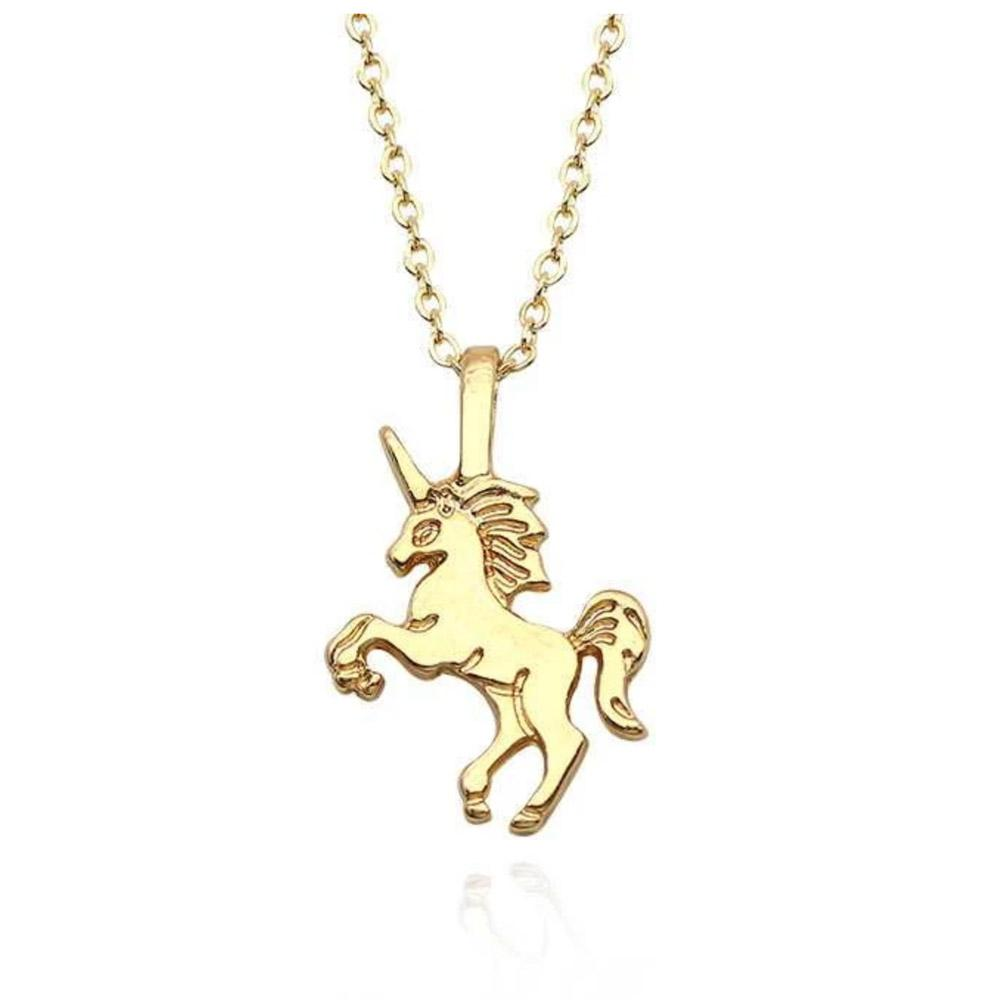 gold unicorn necklace