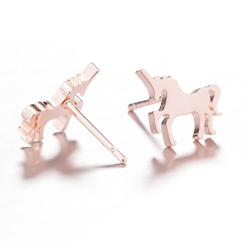Pink Unicorn Earrings