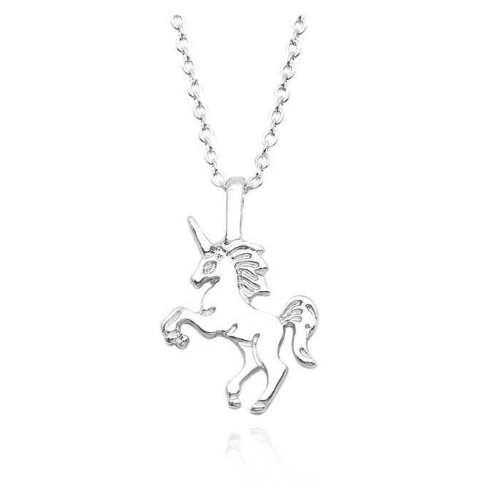 silver unicorn necklace