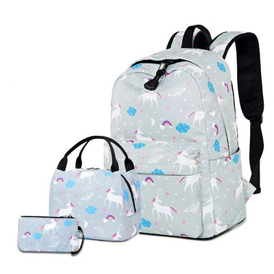 Unicorn School Backpack and Lunchbox
