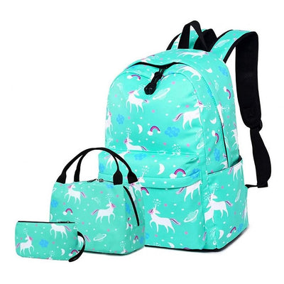 Unicorn Backpack with Lunchbox