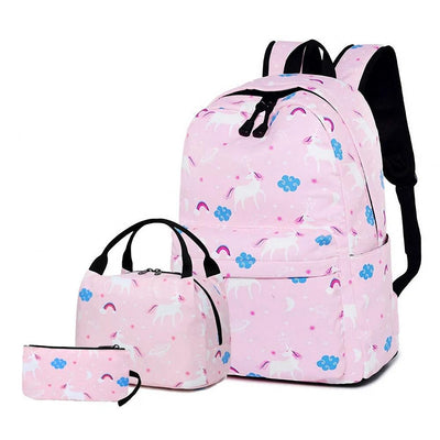 Unicorn Backpack and Lunchbox Set