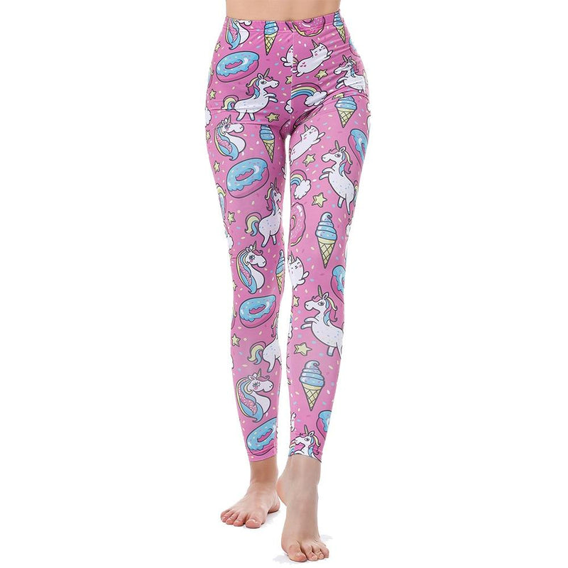pink unicorns leggings