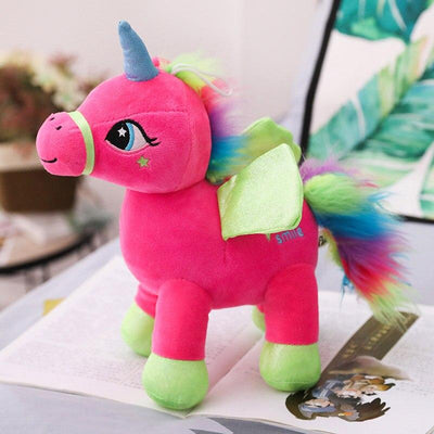 Unicorn Stuffed Animal<br> Rainbow Colored