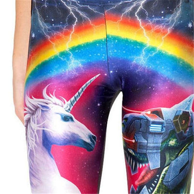 Unicorn Leggings<br> Unicorn VS Robot