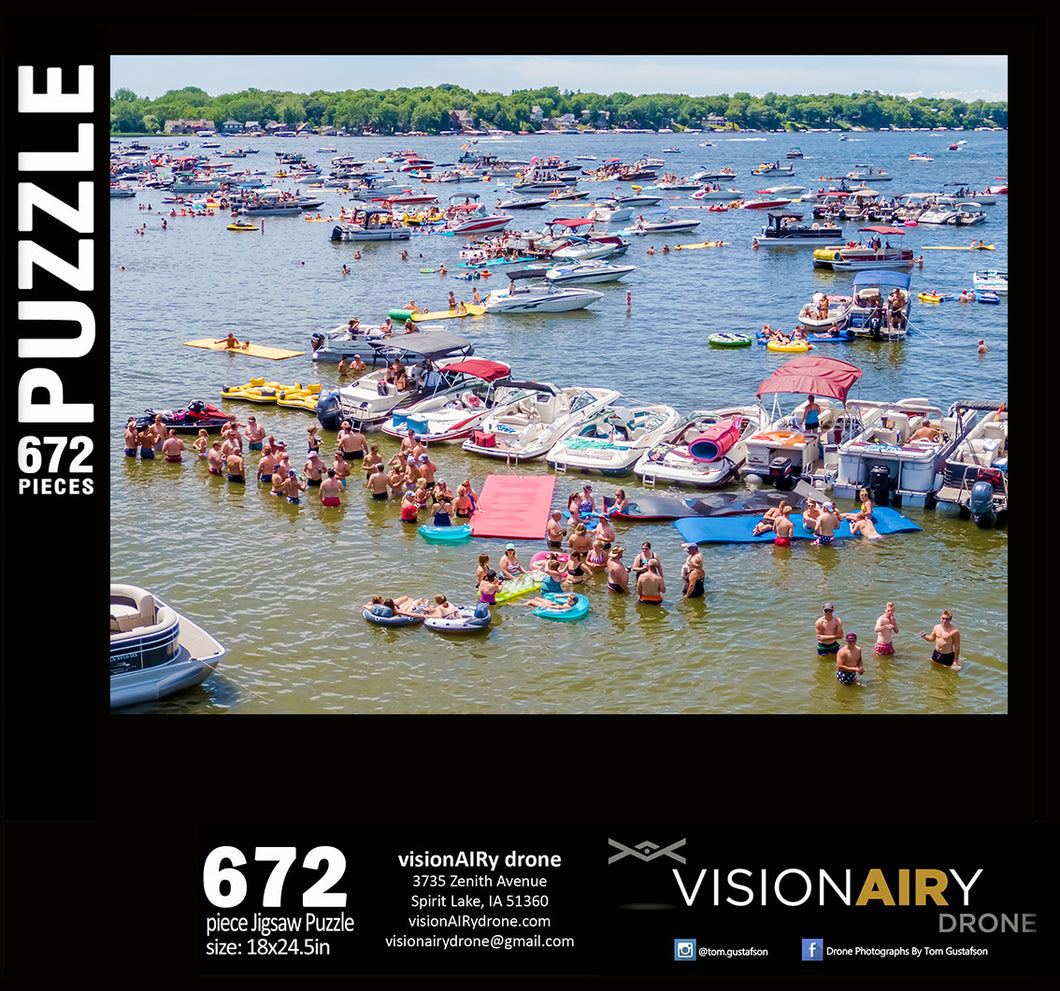 State Beach 4th of July Boating - Jigsaw Puzzle