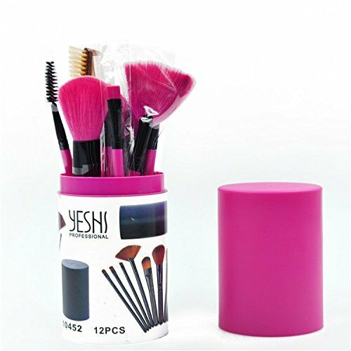12 teiliges Make-Up Set pinsel eyeliner lippenstift Bürste Schminkpinsel Set