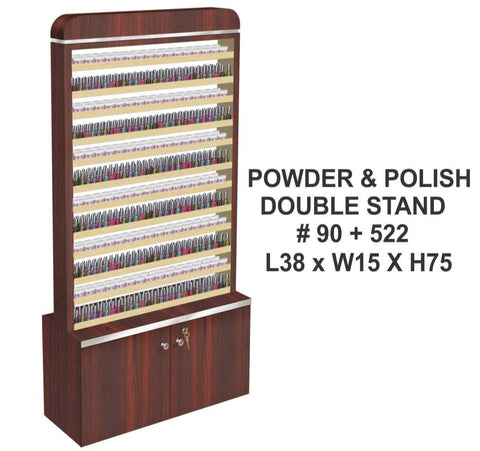 Powder and Polish Double Stand (#90 + #522) - Skyline PA