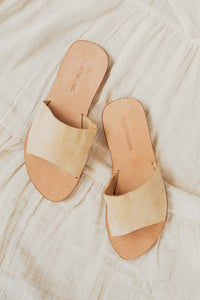 Beige Suede Leather Sandal Single