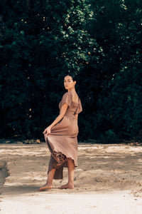 Morning of The Earth / Square Neck Maxi Dress