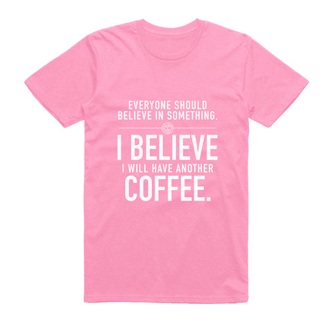 Cool Coffee Clique Members Only T-Shirt (Pink)