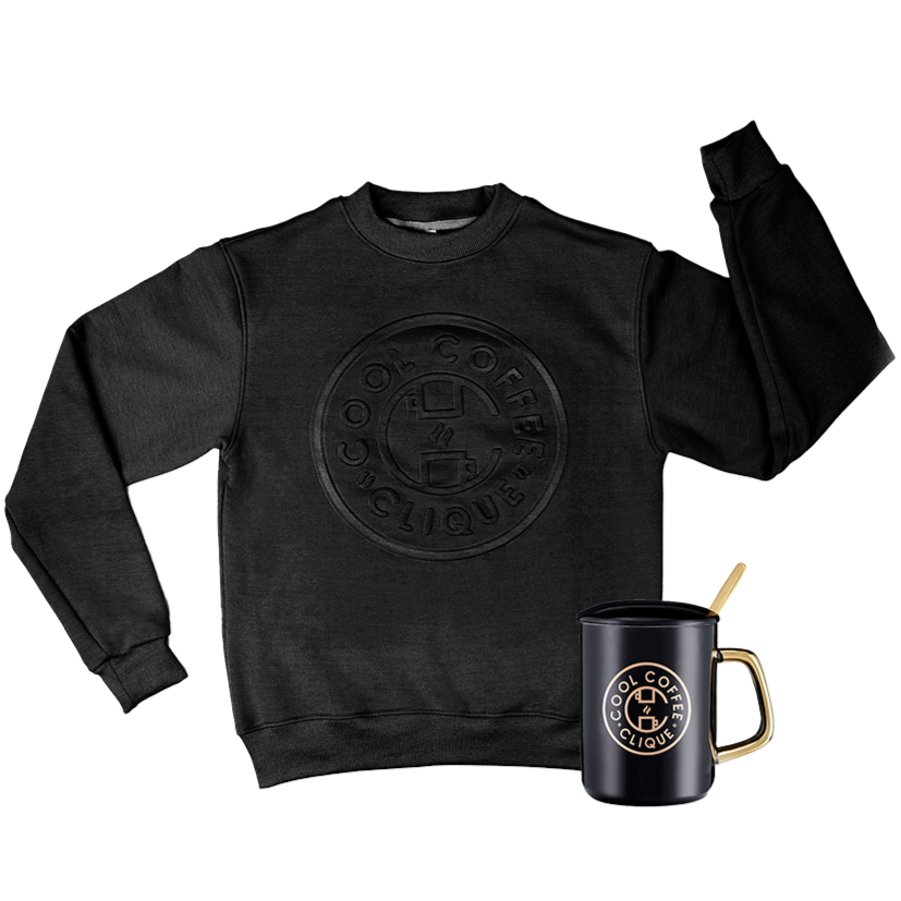Sweet Elite Crewneck and Owner's Mug Bundle (Black)