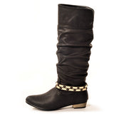 FLASHKODE Classic Black Stylish Winter Boot