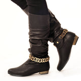 GLAM Classic Black Stylish Winter Boot