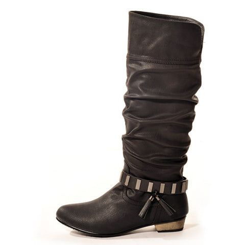 SWING Classic Black Stylish Winter Boots