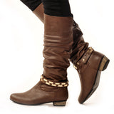 FLASHKODE Classic Brown Stylish Winter Boot