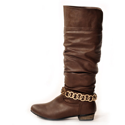 GLAM Classic Brown Stylish Winter Boots
