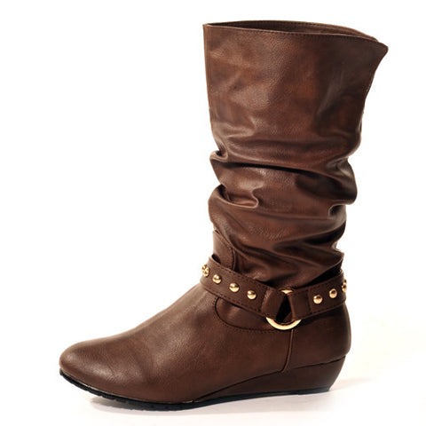 FOXY Wedge Brown Stylish Winter Boot