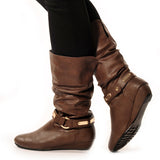 KODE Wedge Brown Stylish Winter Boots